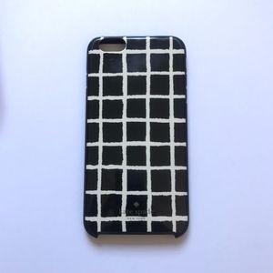 KATE SPADE Black & White Grid iPhone 6/6s + case